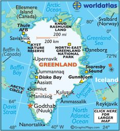 Greenland Map, Map of Greenland, Flags and Geography of Greenland - Worldatlas.com