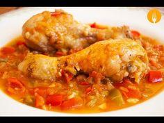 Pollo al Chilindrón casero. Recetas de cocina - YouTube