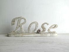 Wooden home decor Rose  wooden letters shabby by TheSouloftheRose