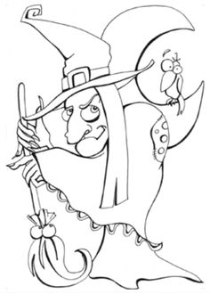 Free printable Halloween coloring pages bka Pinterest
