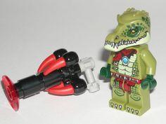 LEGO Legends of Chima Crawley Crocodile Tribe Minifigure w/ Tooth Gun 70005 $10.99