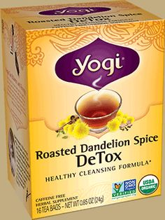 Yogi Tea Roasted Dandelion Spice Detox | For centuries, Dandelion has been traditionally used by herbalists as a cleansing herb to support liver health. This delicious tea is an intriguing, all-organic blend that builds on this tradition, showcasing this celebrated herb. Purposefully formulated to support the body's natural cleansing processes, we combine the finest Organic Dandelion with Cocoa Shells and Yogi's traditional spice blend of Cinnamon, Cardamom, Clove, Ginger and Black Pepper…