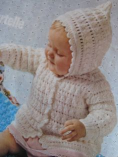 Vintage Knit Baby Hoodie and Blanket by vintageknitcrochet on Etsy, $3.00