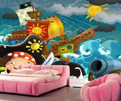 ==> [Free Shipping] Buy Best Children wallpaper the pirates cartoon murals for the living room kid's room backdrop waterproof wallpaper papel de parede Online with LOWEST Price | 32816968299