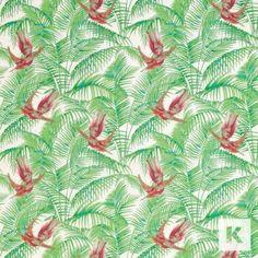 Sunbird fabric by Matthew Williamson at Osborne & Little part of Eden collection | Kingdom Interiors