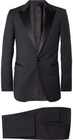 Lanvin Grey Slim-Fit Tropical Wool Tuxedo sur shopstyle.fr
