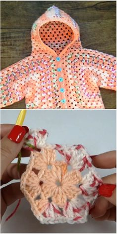 How To Crochet Hooded Baby Jacket If you are looking for a simple and beautiful hooded jacket for you baby or for your friends baby, then this very interesting video tutorial is just for you. Crochet Bebe, Baby Girl Crochet, Crochet Baby Clothes, Crochet Yarn, Free Crochet, Crochet Shrug Pattern, Easy Crochet Patterns, Knitting Patterns, Crochet Ideas