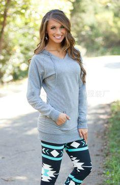 2016 Autumn Long Sleeve Sweatshirt W/Pocket Loose
