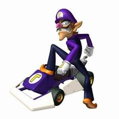 Waluigi from Mario Kart Mario Kart 8, Mario And Luigi, New Super Mario Bros, Super Mario Art, Nintendo Ds, Nintendo Games, Image Mario, Character Design, Video Game