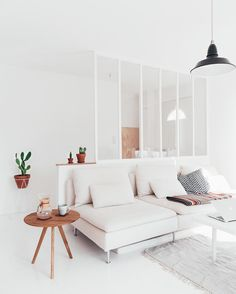 mentions J'aime, 82 commentaires - Sunrise Over Sea ( . - Home Decor Big Living Rooms, Living Room White, Living Room Seating, Apartment Living, Home And Living, Living Room Decor, Living Spaces, Simple Living, Söderhamn Sofa