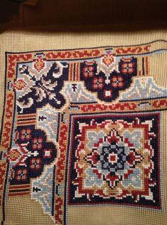 Counted Cross Stitch Patterns, Cross Stitch Embroidery, Needlepoint, Bohemian Rug, Mandala, Carpet, Lassi, Diy Crafts, Rugs