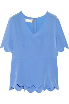 MARNI Silk-Crepe Blouse. #marni #cloth #blouse