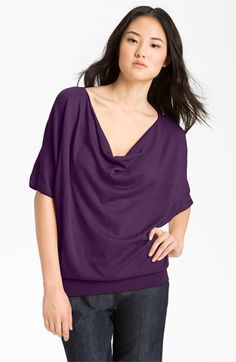 Halogen® Dolman Sleeve Drape Neck Sweater available at #Nordstrom