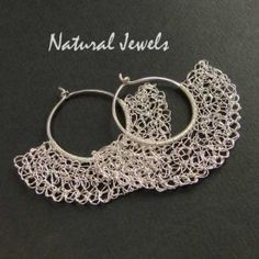 Organic Midways - Sterling silver earrings - Made by Natural Jewels