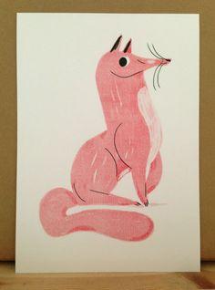 Image of FOX riso print