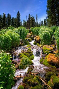 Mesa Lakes Waterfall, Idaho, USA