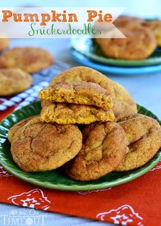 Pumpkin Pie Snickerdoodles are a fabulous Fall twist on a classic cookie the whole family will love!   MomOnTimeout.com #pumpkin #cookies
