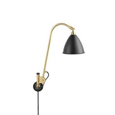 Bestlite Vägglampa Mässing/Charcoal black - Gubi - Dennys Home W Hotel, Wall Lights, Ceiling Lights, Light Crafts, Winston Churchill, Fashion Lighting, Solid Oak, Bauhaus, Desk Lamp