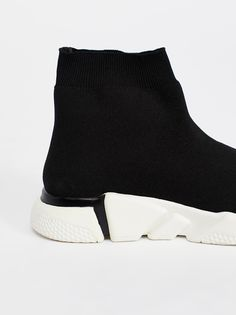 Jeffrey Campbell Black / white Prince Street Sneaker at Free People Clothing Boutique