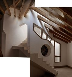 Collage de la habitación de la ventana elíptica. Centro Cultural Casal Balaguer por Flores & Prats + Duch-Pizá. Fotografía © Adrià Goula.