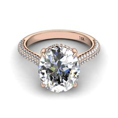 18k Rose Gold Diamond Engagement Ring by PristineCustomRings