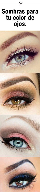 Descubre cuáles tonos de sombras le van a tu color de ojos.