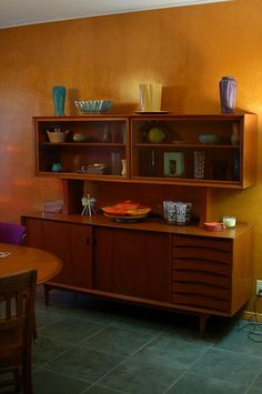 teak credenza. which i will have someday!