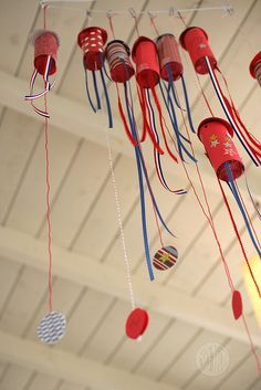 Make your own party poppers....wonder if could also add candy and small toys? have one for each party kid