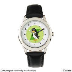 Cute penguin cartoon wrist watch