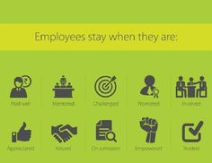 Employees stay when they are: