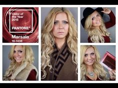 2015 TREND REPORT - MARSALA, MAKEUP, HAIR AND FASHION - YouTube