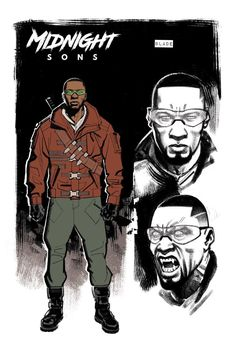 I love the Wesley Snipes black leather asthetic but the MARVEL Cinematic Universe Blade gotta go back to basics. [Godly art by Greg Smallwood ] Black Anime Characters, Comic Book Characters, Marvel Characters, Marvel Heroes, Comic Character, Comic Books Art, Character Design, Marvel Art, Ian Mckellen
