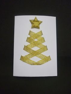 Christmas Card with ribbon