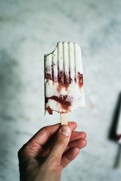 Caramelized Rhubarb and Yogurt Ice Pops | 24 Healthy Ice Pops To Cool Down Your Hot Summer