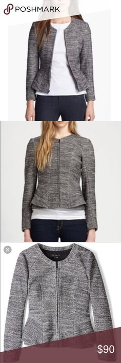Theory Tweed Peplum Jacket Gorgeous jacket blazer by Theory. Slight peplum look on sides. Great for work or to wear out! More pictures to come! BUNDLES 20% OFF  Theory Jackets & Coats Blazers