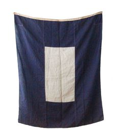 Blue and White Nautical Flag by foldingchairs