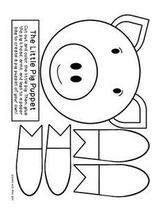 THE THREE LITTLE PIGS: LITERACY ACTIVITIES - Pig Puppet- TeachersPayTeachers.com