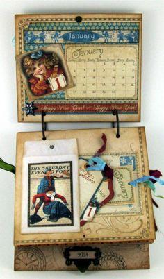 ** Handmade Calendar For January  @creativeinspirations