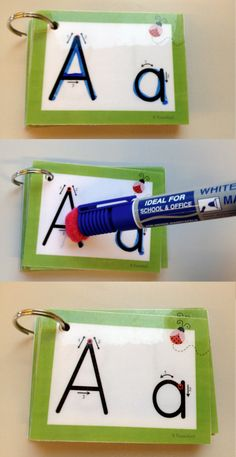This is such an easy and amazing idea! Hot glue a pom pom on a dry erase marker and you cean easily clean off whaterver you wrote. Simply clever! http://klassenkunst.blogspot.ch