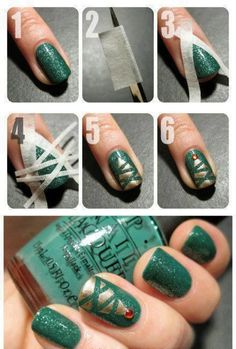 Top 9 Simple Nail Tutorials For Christmas Party – New Winter Manicure Trend Design - Way To Be Happy (4)