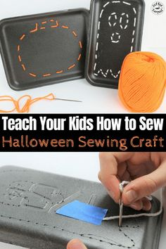 How to Teach Your Kids to Sew with This Halloween Sewing Craft – Sewing 2020 Halloween Sewing, Halloween Books, Halloween Crafts For Kids, Vintage Halloween, Halloween Fun, Sewing Hacks, Sewing Crafts, Sewing Projects, Sewing Tutorials