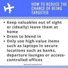 International Travel Safety Tip Keep Valuables Out Of Sight Or Dont Pack