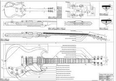 Templates for the construction of the Gibson SG Custom guitar model - perfect scale high quality, detailed PDFs suitable for luthiers. Gibson Sg, Gibson Les Paul, Sg Guitar, Guitar Body, Guitar Parts, Guitar Case, Guitar Drawing, Gibson Guitars, Model