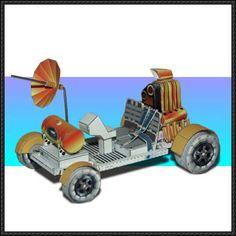NASA Apollo 15 Lunar Rover Free Paper Model Download - http://www.papercraftsquare.com/nasa-apollo-15-lunar-rover-free-paper-model-download.html