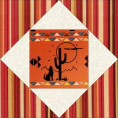 Coyote Cactus Pre-Cut Quilt Block Kit from Quilt Kit Shop