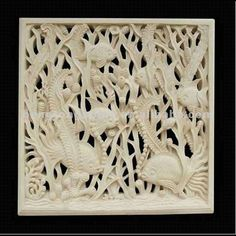 Stone Wall Relief Carving of Under Water Scene $2000~$10000