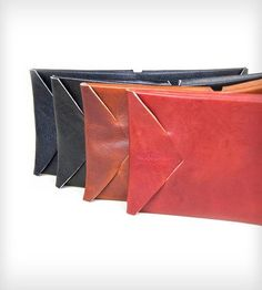 Origami Leather Wallet | This unique wallet inspired from a traditional leather craft p... | Wallets & Money Clips