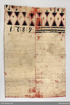 Slitrya daterad 1789 från Gysta, Bälinge socken, Uppland