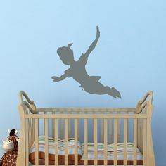 Check lastest price Flying Peter Pan Shadow Wall Decals Vinyl Sticker Peter Pan Silhouette Fantasy Fairytale Wall Nursery Kids Room Home Decor JW105 just only $4.98 - 8.98 with free shipping worldwide  #wallstickers Plese click on picture to see our special price for you