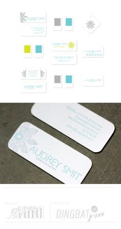 Audrey Smit Photography - letterpress business cards and design services by Dingbat Press.